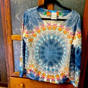 Very colorful, lightweight top